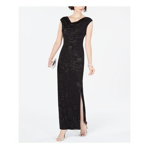 JESSICA HOWARD Black Cap Sleeve Maxi Sheath Dress Size 10