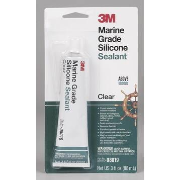 3M 8019 Marine Grade Silicone Sealant, 3 Oz, Clear
