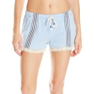 Jane & Bleecker NEW Blue Womens Size Medium M Lounge Pants Sleep Shorts