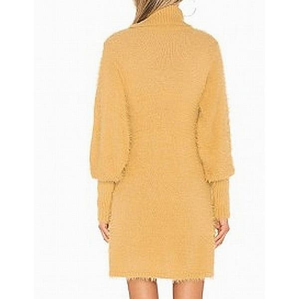 Shop Free People Yellow Women S Size Large L Turtleneck Sweater Dress Overstock 27222479
