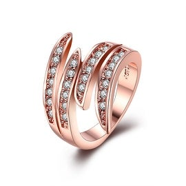 Rose Gold Plated Curvy Swirl Ring