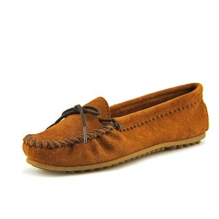 Minnetonka Skimmer Moc Women  Round Toe Suede Brown Loafer
