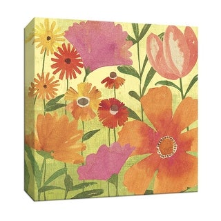 "PTM Images 9-152393  PTM Canvas Collection 12"" x 12"" - ""Spring Fling II"" Giclee Flowers Art Print on Canvas"