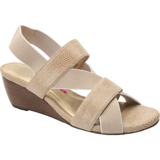 2a5f4c948 Shop Ros Hommerson Women's Wynona Strappy Wedge Sandal Nude Leather - Free  Shipping Today - Overstock - 13690460