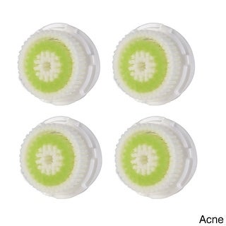 Pursonic FBHA-4 Replacement Heads for Clarisonic for Acne Skin, Pack of 4 - White & Green