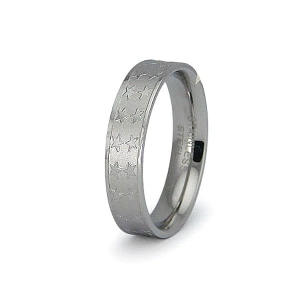 Stainless Steel Stars Ring (Sizes 7-10)