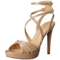 Chinese Laundry Womens HIghlight Open Toe Ankle Strap Platform Pumps