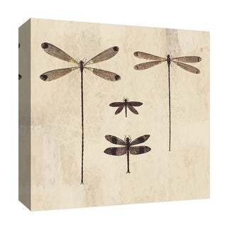 """PTM Images 9-126787  PTM Canvas Collection 12"""" x 12"""" - """"Flying Family"""" Giclee Dragonflies Art Print on Canvas"""