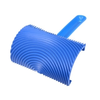 """Wood Grain Tool w/ Handle 6"""" Rubber Graining Pattern Stamp Wall Decoration DIY - MS18A-4 inch"""