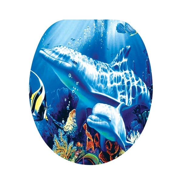Toilet Seat Dolphin Ocean Brass PVD Hinge | Renovator's Supply