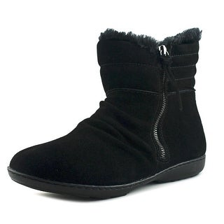 Sporto Mount Women  Round Toe Leather Black Winter Boot