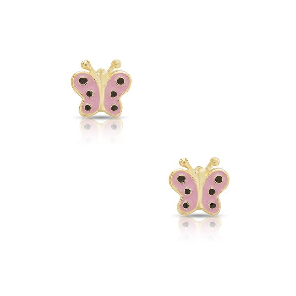 Lily Nily Girl's Butterfly Stud Earrings - Pink