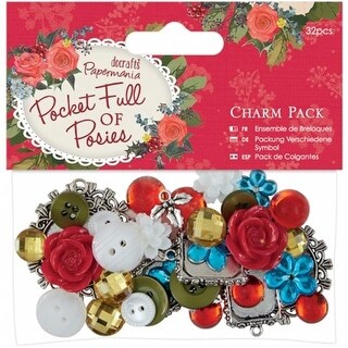 Docrafts PM356907 Papermania Pocket Full Of Posies Charm Pack 3