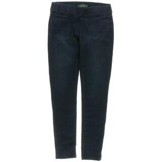 LRL Lauren Jeans Co. Womens Denim Leggings Dark Wash Skinny Leg