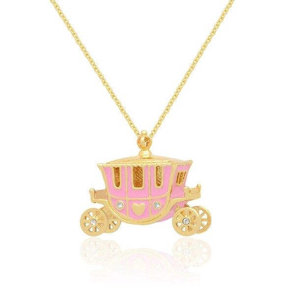 Lily Nily Girl's Princess Carriage Necklace - Pink
