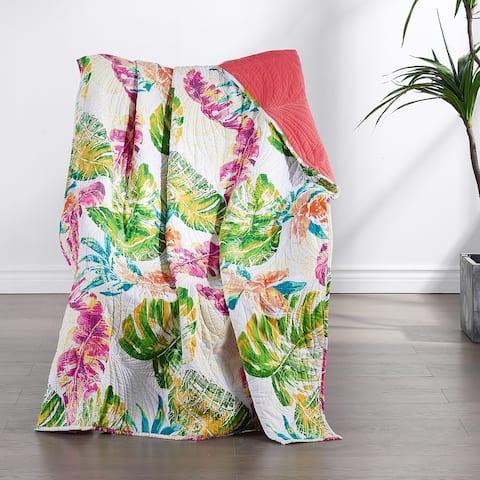 Greenland Home Fashions Tropics Cotton-Rich Throw Blanket