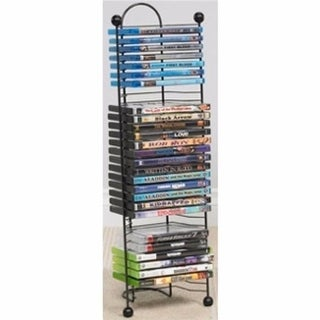 Atlantic 6371-2046 Nestable 32 DVDs with Blue Ray, Gunmetal