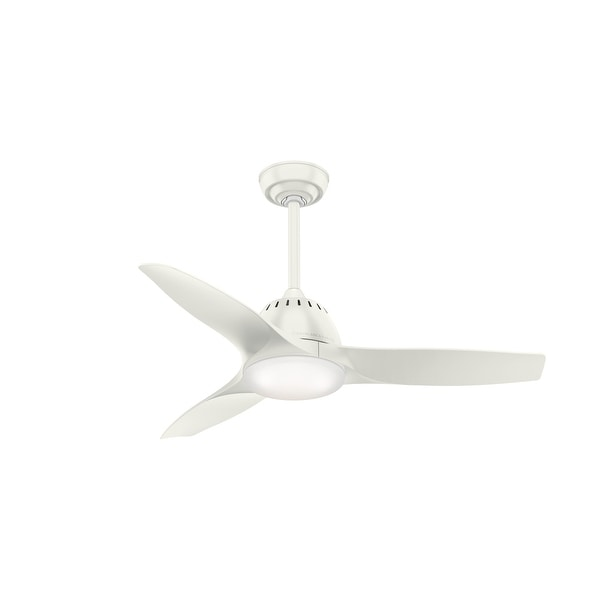 """Casablanca 44"""" Wisp Ceiling Fan with LED Light Kit and Handheld Remote. Opens flyout."""