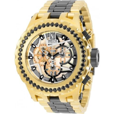 Invicta Men's 32117 'Jason Taylor' Gold-Tone and Black Inserts Stainless Steel Watch - White