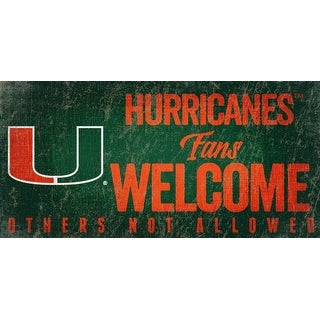Link to Miami Hurricanes Wood Sign Fans Welcome 12x6 Similar Items in Fan Shop