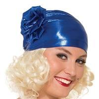 Roaring 20's Cloche Costume Hat One Size - Blue