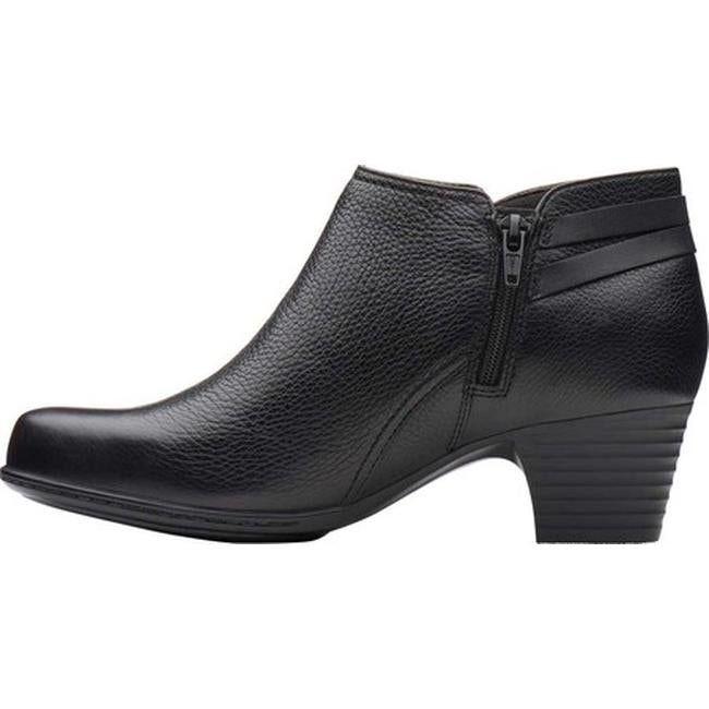 Clarks Women's Valarie 2 Ashly Ankle Bootie Black Leather