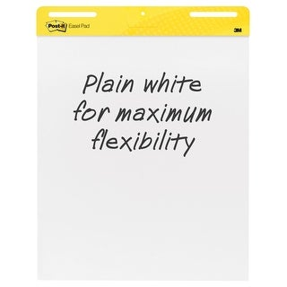 Post-It Self-Stick Easel Pad, 25 x 30 Inches, Unruled, White, 30 Sheets, Pack of 2