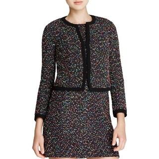 Diane Von Furstenberg Womens Emery Casual Blazer Textured Specked