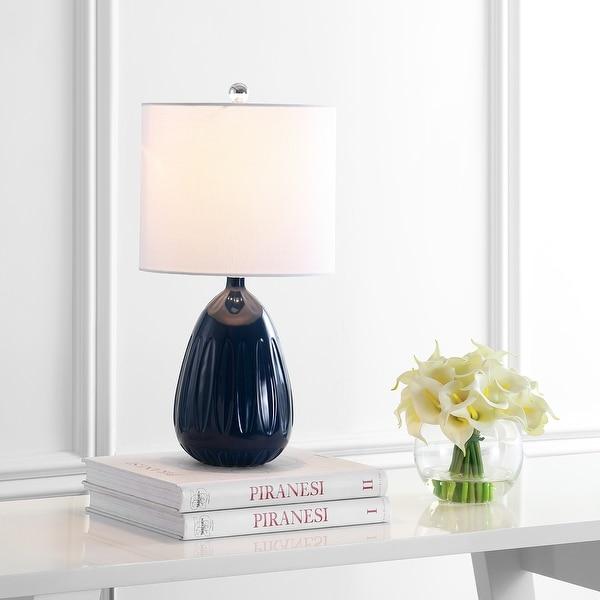 """SAFAVIEH Lighting 20"""" Linnett LED Table Lamp - 10""""x10""""x20"""". Opens flyout."""