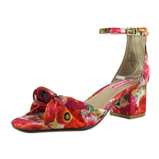 Betsey Johnson Ivee Women Open Toe Canvas Multi Color Sandals