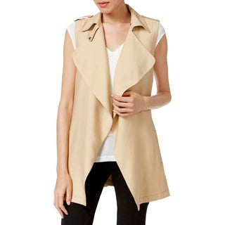 Catherine Malandrino Womens Vest Button Collar Sleeveless - m