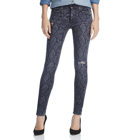 Rag & Bone Womens Skinny Jeans Denim Snake Print - Grey Snake