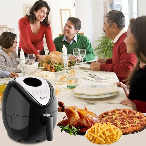 1800W 5.6Qt 7-in-1 Air Fryer LED Digital Touchscreen Oven & Oilless Cooker for Roasting