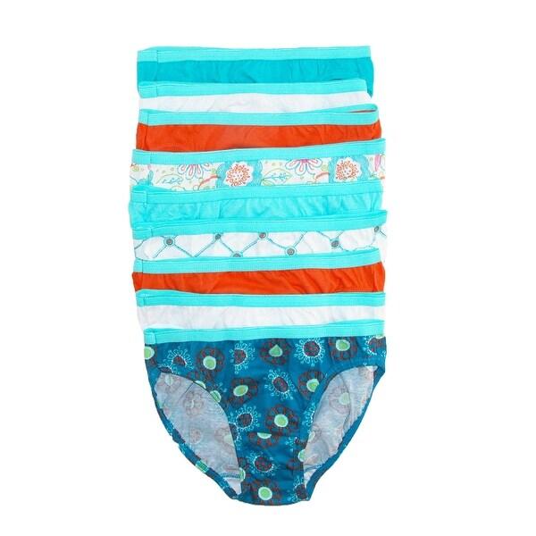 Hanes Girls' Cotton Tagless Bikini Underwear (Pack of 9)