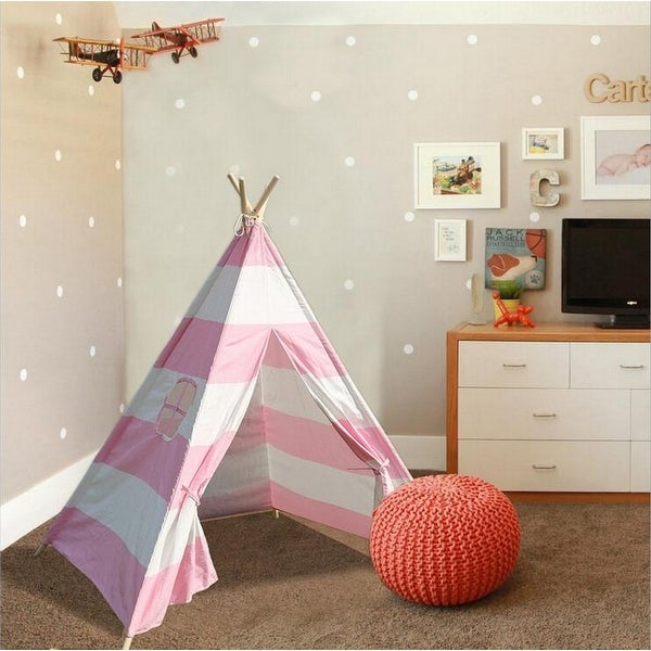 Natural Cotton Canvas Teepee Tent for Kids Indoor & Outdoor Use. Opens flyout.