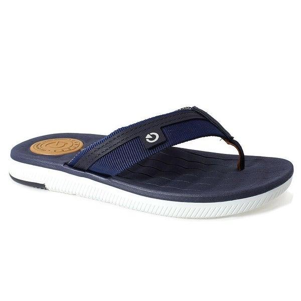 8104630f83362 Cartago Men  x27 s Napoles Comfort Sandal Insole Plush Waffle-Texture White