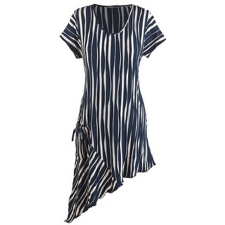 Women's Long Tunic - Marseille Pocket Striped Top