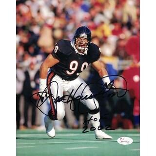 Dan Hampton Autographed Chicago Bears 8x10 Photo HOF JSA
