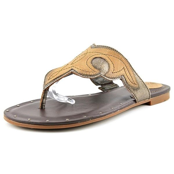 Ariat Mica Women Open Toe Leather Brown Thong Sandal