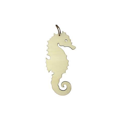 Darice Craftwood Wood Plaque Seahorse