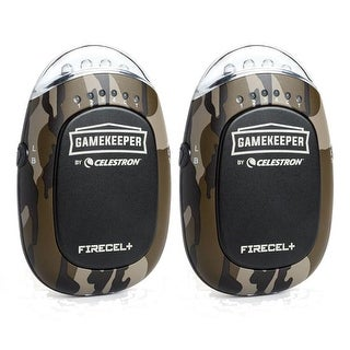 Celestron 93549 Gamekeeper Portable power bank, LED flashlight 3-in-1 hand warmer-2 Pack