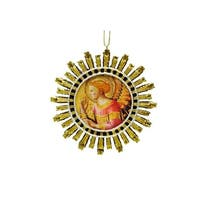 "4"" Religious Angel Starburst Christmas Ornament"