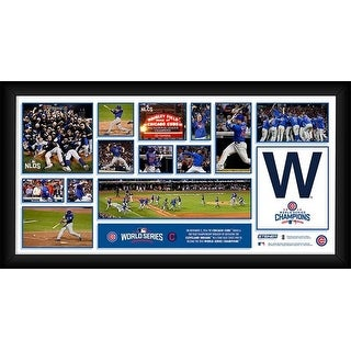 Chicago Cubs 2016 World Series Champions Photo Collection Framed 10x20 Photo