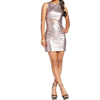 Speechless Womens Juniors Party Dress Sequined Cut-Out