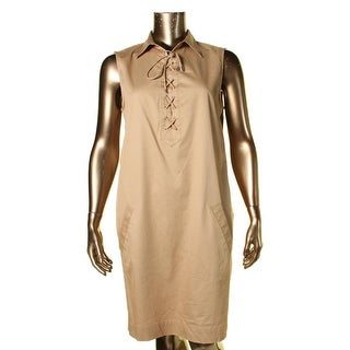 Lauren Ralph Lauren Womens T-Shirt Dress Sleeveless Casual