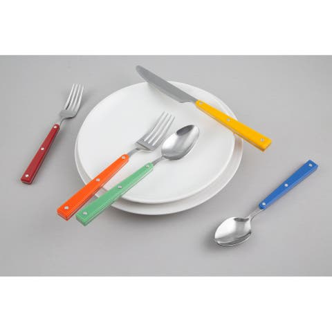 Fiesta Rhumba Multi-Color 20 Piece Flatware Set, Service for Four - 20 Piece