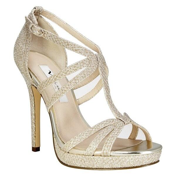 Nina Womens Fanetta Open Toe Ankle Strap D-orsay Pumps