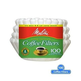 Melitta 62912 Junior Basket Coffee Filter 100 Counts (Single-Pack) Basket Coffee Filter 100 Counts