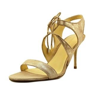 Ivanka Trump Garver   Open Toe Suede  Sandals