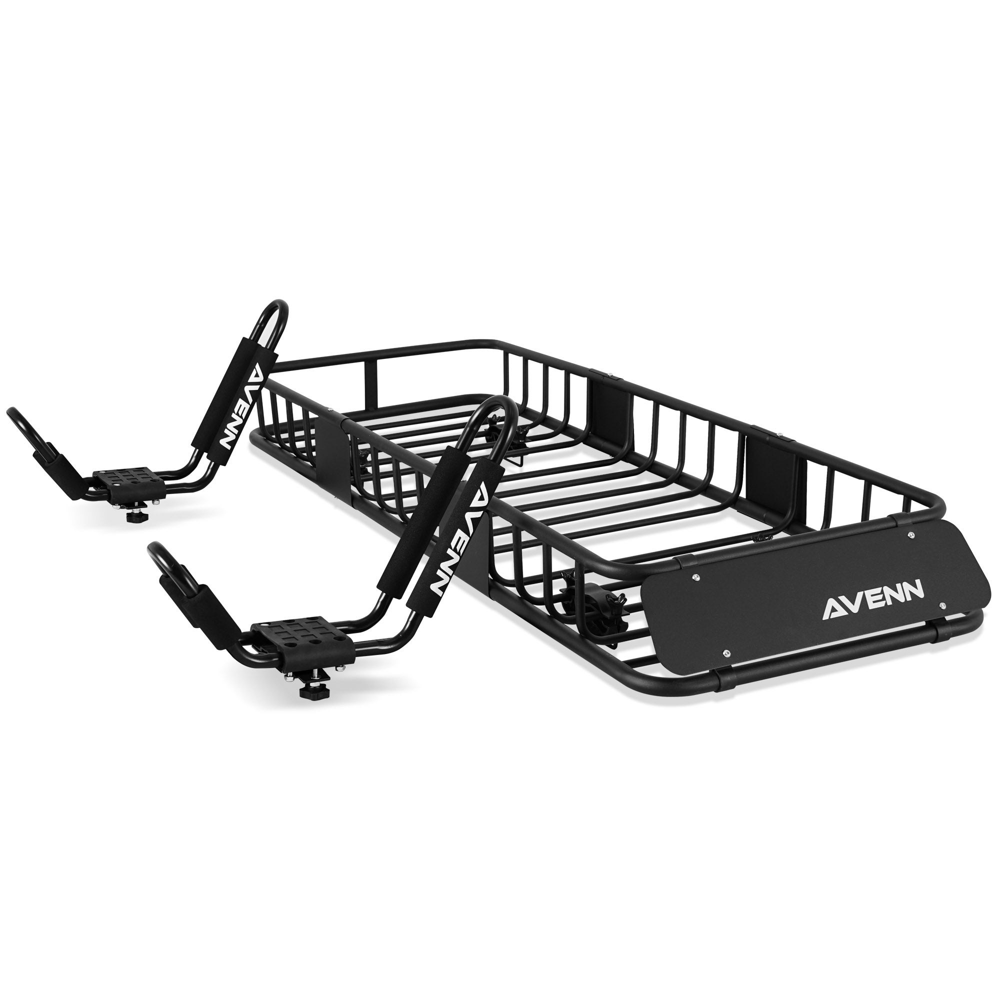 "AVENN 8"" x 8"" x 8"" Cargo Basket Roof Rack & J-Bar Rack Carrier"